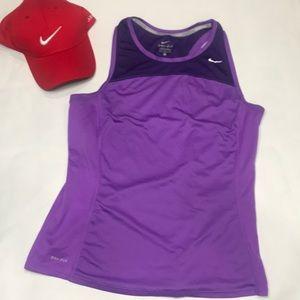 Nike Miler running athletic purple Tank Top medium